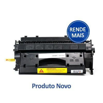 Toner HP CE505X | 05X LaserJet Preto Compatível para 6.500 páginas