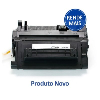 Toner HP CC364X | 364X | 64X LaserJet Preto Compatível para 24.000 páginas