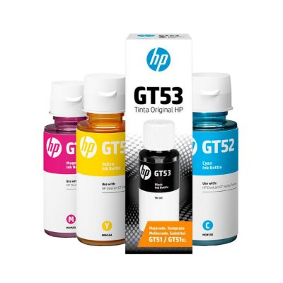 Kit de Tinta HP GT53 + HP GT52 Smart Tank Preta 90ml + Coloridas 70ml Original