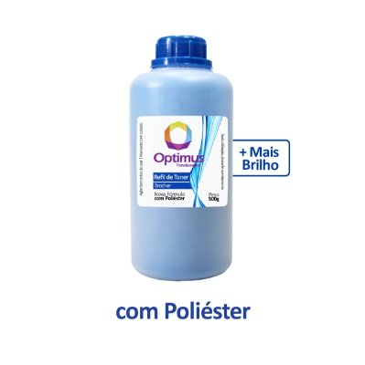 Refil de Pó de Toner Brother TN-217C Optimus Ciano 500g