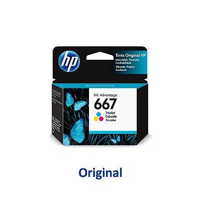 Cartucho HP 2776 | HP 667 | 3YM78AL Colorido Original 2ml