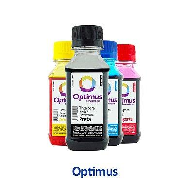 Kit de Tinta para Cartucho HP 667 | HP 2776 DeskJet Optimus Preta + Coloridas 100ml