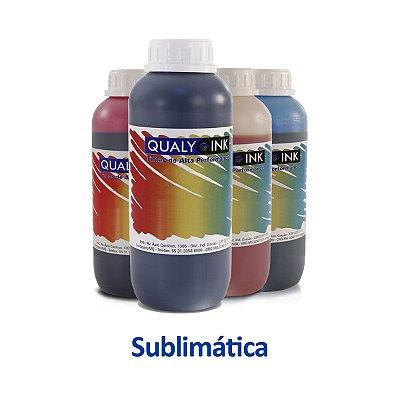 Kit de Tinta Epson L6171 EcoTank | T504120 | 504 Sublimática Qualy Ink Preta + Coloridas 1 litro
