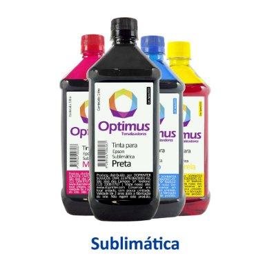 Kit de Tintas Epson L3150   T544420   544 EcoTank Optimus Sublimática Preta + Coloridas 1 litro