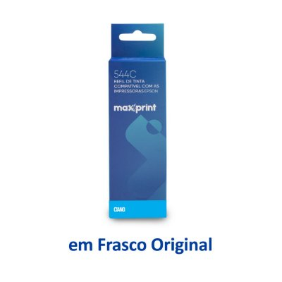 Tinta Epson L3160 EcoTank | T544220 | 544 | L3160 Maxprint Ciano 70ml