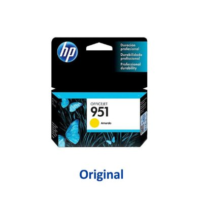 Cartucho HP 8100   8620   HP 951   CN052AB Officejet Amarelo Original 8ml