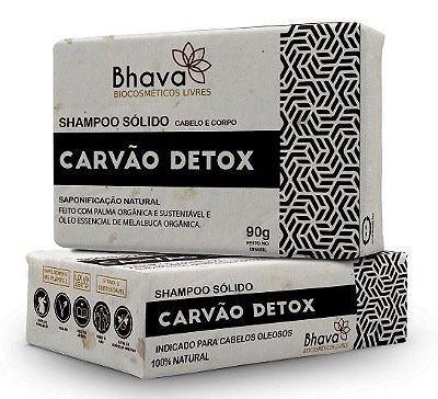 Shampoo Sólido Carvão Detox 90g - LINHA LIXO ZERO