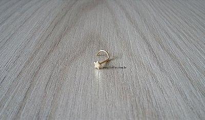 Piercing para nariz - Estrela - Ouro Amarelo 18k