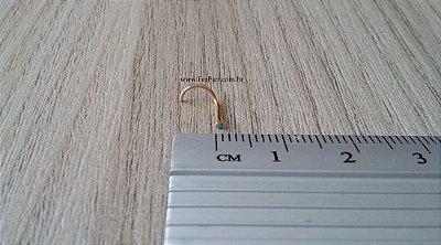 Piercing de nariz (pedrinha turquesa/azul) - sem garras - Ouro Amarelo 18K