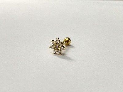 Piercing para Tragus/Helix - Folheado a Ouro