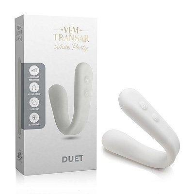 Vibrador Recarregável Duet - Vem Transar - White Party