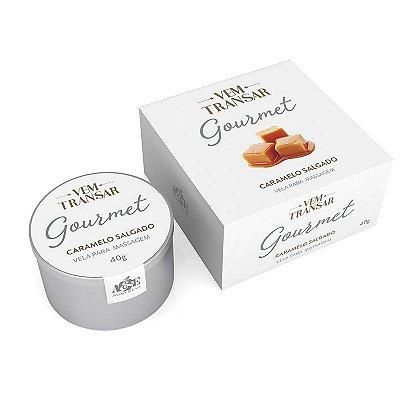 Vela Gourmet Beijável - VEM TRANSAR - Caramelo Salgado - 40gr (AE-VT027)