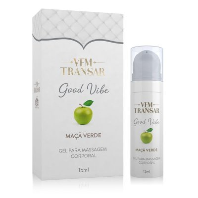 Lubrificante VEM TRANSAR Good Vibe - Sabor Maçã Verde - Vibra - 15ml (AE-VT020)