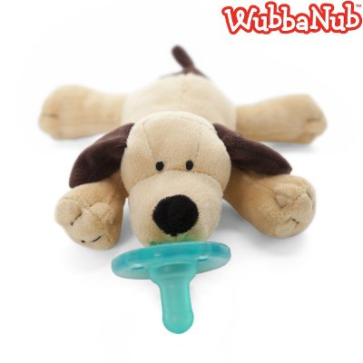 WubbaNub: A chupeta mais fofa que existe! - Cachorro Marrom (Brown Puppy)
