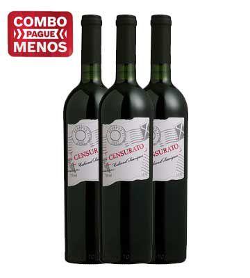 Combo 3 Censurato Cabernet Sauvignon