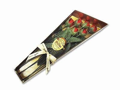 Caixa c/ 6 Rosas de Chocolate ao Leite