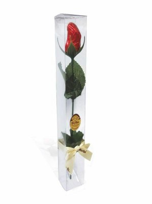 Caixa c/ 1 Rosa de Chocolate ao Leite