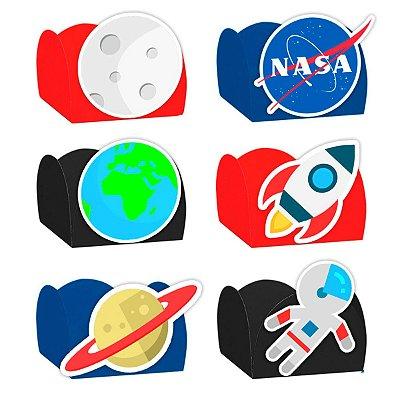 Forminha para Doces Festa Astronauta - Sortido - 24 Unidades - Lembrafesta