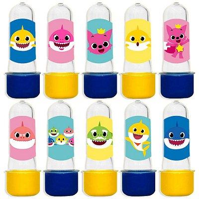 Mini Tubete para Lembrancinha Festa Baby Shark - Sortida - 20 unidades - Lembrafesta
