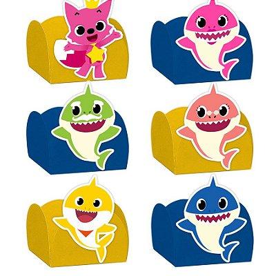 Forminha para Doces Festa Baby Shark - Sortido - 24 Unidades - Lembrafesta