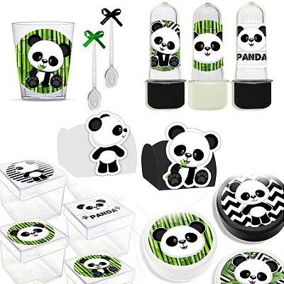 Kit Lembrancinhas Festa Panda para 30 Convidados - 200 Itens - Lembrafesta