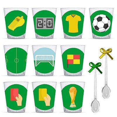 Copinho para Doces com Colher Festa Futebol com 20 unidades Lembrafesta