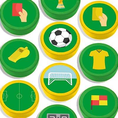 Latinha para Lembrancinha Festa Futebol - Sortida - 20 unidades - Lembrafesta