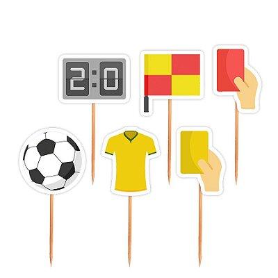 Topper para Docinhos Festa Futebol - Sortido - 24 unidades - Lembrafesta
