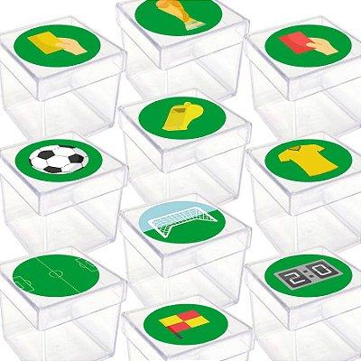 Caixinha Acrílica para Lembrancinha Festa Futebol - 20 Unidades - Lembrafesta