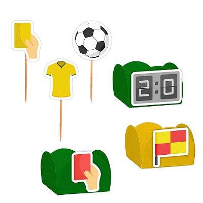 Kit Decoração Festa Futebol - 100 Itens - Lembrafesta