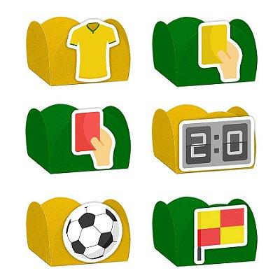 Forminha para Doces Festa Futebol - Sortido - 24 Unidades - Lembrafesta