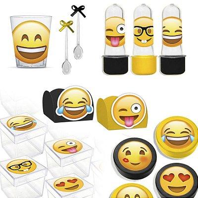 Kit Lembrancinhas Festa Emoji para 30 Convidados - 200 Itens - Lembrafesta