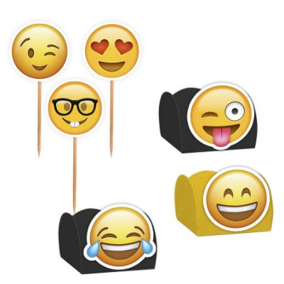 Kit Decoração Festa Emoji - 100 Itens - Lembrafesta