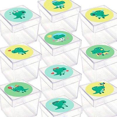 Caixinha Acrílica para Lembrancinha Festa Dinossauro Baby - 20 Unidades - Lembrafesta