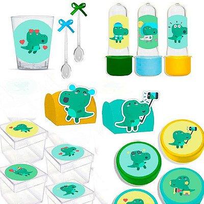 Kit Lembrancinhas Festa Dinossauro Baby para 30 Convidados - 200 Itens - Lembrafesta