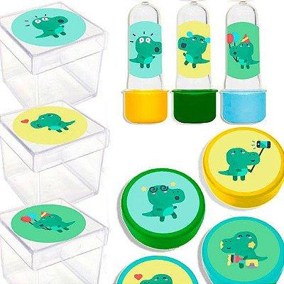 Kit Lembrancinhas Festa Dinossauro Baby para 20 Convidados - 60 Itens - Lembrafesta