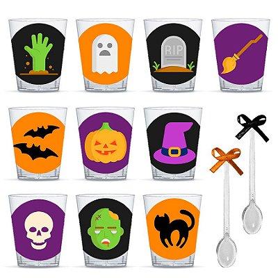 Copinho para Doces com Colher Festa Halloween com 20 unidades Lembrafesta
