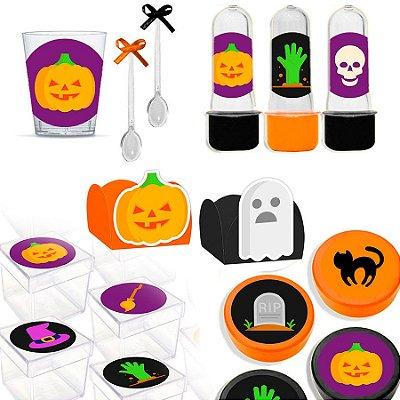 Kit Lembrancinhas Festa Halloween para 30 Convidados - 200 Itens - Lembrafesta