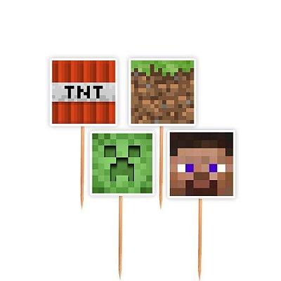 Topper para Docinhos Festa Minecraft - Sortido - 24 unidades - Lembrafesta