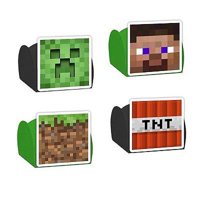 Forminha para Doces Festa Minecraft - Sortido - 24 Unidades - Lembrafesta