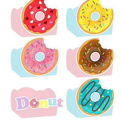 Forminha para Doces Festa Donuts - Sortido - 24 Unidades - Lembrafesta