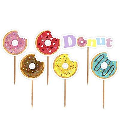 Topper para Docinhos Festa Donuts - Sortido - 24 unidades - Lembrafesta
