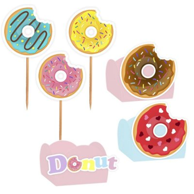 Kit Decoração Festa Donuts - 100 Itens - Lembrafesta