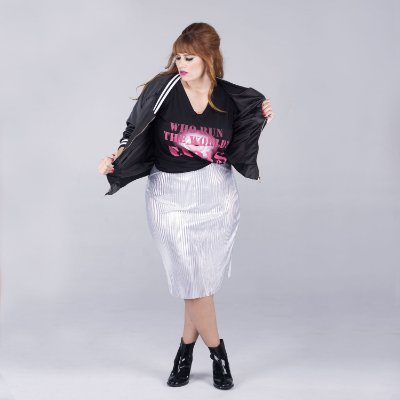 Bomber Jacket GIRL POWER - Plus Size