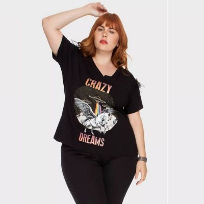 T-shirt Crazy Dreams - Plus Size