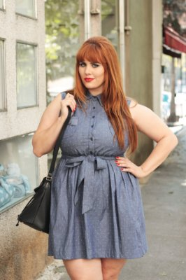 Vestido Lady Like Jeans Plus Size