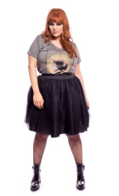 Saia de Tule Back to Black Plus Size