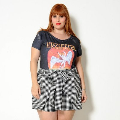 T-shirt Plus Size Led Zeppelin Preta