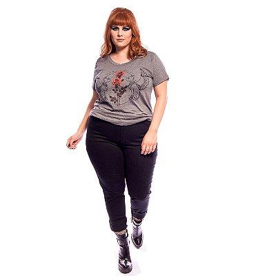 Jeans Skinny Plus Size Preto