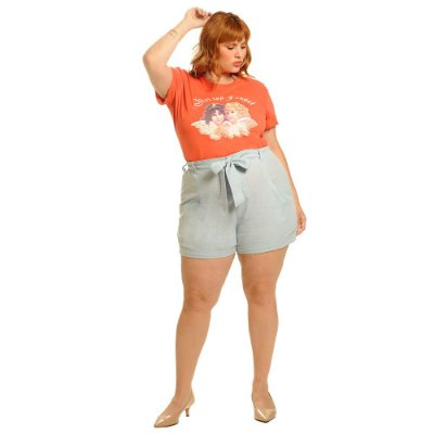 T-Shirt Not Today Angel Coral Plus Size